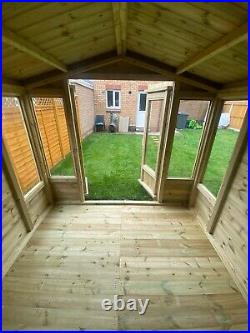 Garden Shed Summer House Tanalised Super Heavy Duty 8x8 19mm T&g. 3x2