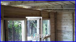 Garden Shed Summerhouse Tanalised Super Heavy Duty 10x6 19mm T&g. 3x2