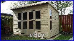 Garden Shed Summerhouse Tanalised Super Heavy Duty 10x8 19mm T&g. 3x2