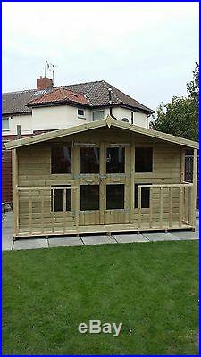 Garden Shed Summerhouse Tanalised Super Heavy Duty 12x10 19mm T&g. 3x2
