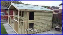 Garden Shed Summerhouse Tanalised Super Heavy Duty 12x12 19mm T&g. 3x2