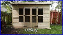 Garden Shed Summerhouse Tanalised Super Heavy Duty 12x6 19mm T&g. 3x2