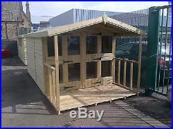 Garden Shed Summerhouse Tanalised Super Heavy Duty 12x8 19mm. 3x2