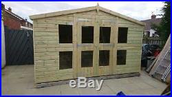 Garden Shed Summerhouse Tanalised Super Heavy Duty 12x8 19mm T&g. 3x2