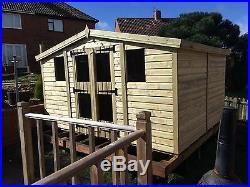 Garden Shed Summerhouse Tanalised Super Heavy Duty 12x8 19mm T&g. 3x2