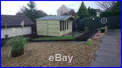 Garden Shed Summerhouse Tanalised Super Heavy Duty 14x10 19mm T&g. 3x2