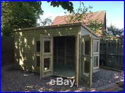 Garden Shed Summerhouse Tanalised Super Heavy Duty 14x8 19mm T&g. 3x2