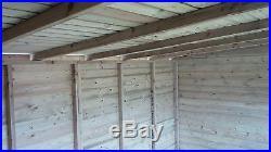 Garden Shed Summerhouse Tanalised Super Heavy Duty 16x10 19mm T&g. 3x2