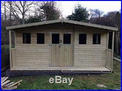Garden Shed Summerhouse Tanalised Super Heavy Duty 16x12 19mm T&g. 3x2