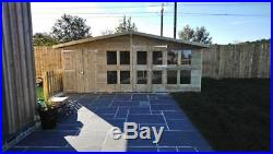 Garden Shed Summerhouse Tanalised Super Heavy Duty 18x10 19mm T&g. 3x2