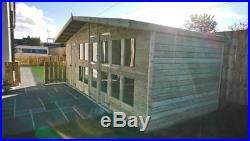 Garden Shed Summerhouse Tanalised Super Heavy Duty 18x8 19mm T&g. 3x2