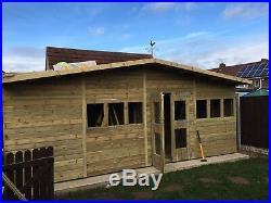 Garden Shed Summerhouse Tanalised Super Heavy Duty 20x10 19mm T&g. 3x2