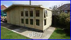 Garden Shed Summerhouse Tanalised Super Heavy Duty 20x8 19mm T&g. 3x2