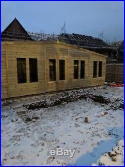 Garden Shed Summerhouse Tanalised Super Heavy Duty 28x10 19mm T&g. 3x2