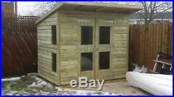 Garden Shed Summerhouse Tanalised Super Heavy Duty 8x6 19mm T&g. 3x2