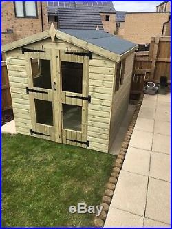 Garden Shed Summerhouse Tanalised Super Heavy Duty 8x6 22mm T&g. 3x2