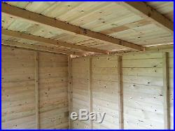 Garden Shed Super Heavy Duty Tanalised 10x8 Pent 19mm T&g. 3x2