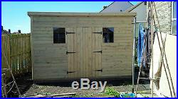 Garden Shed Super Heavy Duty Tanalised 12x6 Pent 19mm T&g. 3x2