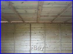 Garden Shed Super Heavy Duty Tanalised 12x8 Pent 19mm T&g. 3x2