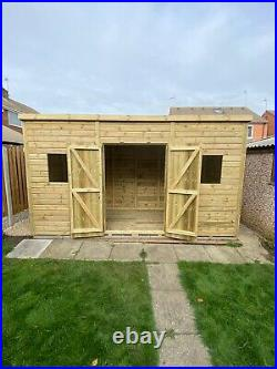 Garden Shed Super Heavy Duty Tanalised 14x6 Pent 19mm T&g. 3x2