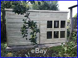 Garden Shed Super Heavy Duty Tanalised 14x8 Pent 19mm T&g. 3x2