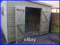 Garden Shed Super Heavy Duty Tanalised 16x10 Pent 19mm T&g. 3x2
