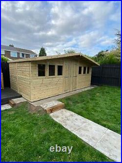 Garden Shed Super Heavy Duty Tanalised 18x10 Apex 19mm T&g. 3x2