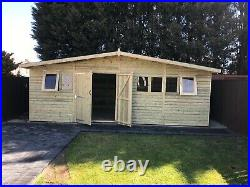 Garden Shed Super Heavy Duty Tanalised 22x10 Apex 19mm T&g. 3x2