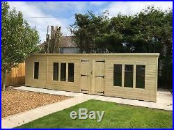 Garden Shed Super Heavy Duty Tanalised 26x10 Pent 19mm T&g. 3x2