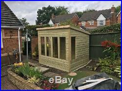 Garden Shed Super Heavy Duty Tanalised 8x6 Pent 22mm T&g. 3x2