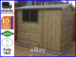Garden Shed Tanalised Super Heavy Duty 10x8 Reverse Apex T&g