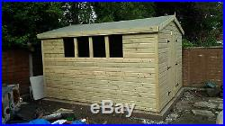 Garden Shed Tanalised Super Heavy Duty 12x10 Apex 19mm T&g. 3x2