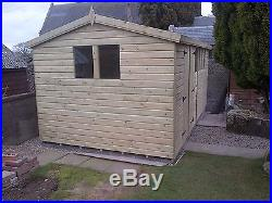 Garden Shed Tanalised Super Heavy Duty 16x10 Apex 19mm T&g. 3x2