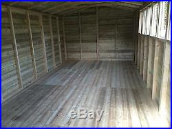 Garden Shed Tanalised Super Heavy Duty 20x10 Apex 19mm T&g. 3x2