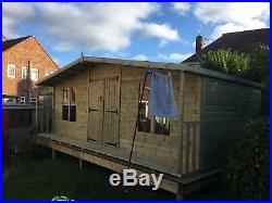Garden Shed Tanalised Super Heavy Duty 20x12 Apex 19mm T&g. 3x2