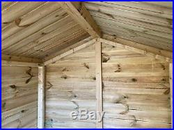 Garden Shed Tanalised Super Heavy Duty 6x4 Apex 19mm T&g. 3x2