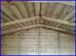 Garden Shed Tanalised Super Heavy Duty 7x5 Apex 19mm T&g. 3x2
