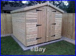 Garden Shed Tanalised Super Heavy Duty 8x8 Apex 19mm T&g. 3x2