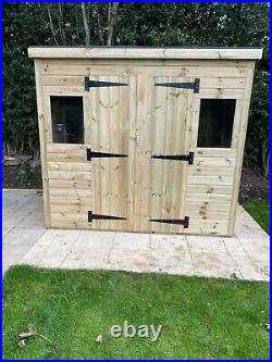 Garden Storage Shed Super Heavy Duty Tanalised 8x6 Pent 19mm T&g. 3x2