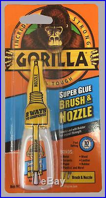Gorilla Super Glue Brush & Nozzle 12g Strong Heavy Duty With Applicator Rdgtools