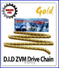 HAYABUSA DID ZVM SUPER HEAVY DUTY GOLD X-Ring Chain 530 x 118