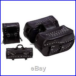 HEAVY DUTY PVC SADDLE BAGS FOR HONDA SHADOW SABRE ACE 1100 750 -4Pc T/Over Style