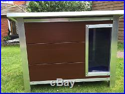 HEAVY DUTY Plastic Dog Kennel House UK MADE WHITE GREY BROWN 4 Sizes