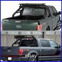 HEAVY DUTY TRUCK BED ALUMINUM ROLL BAR With CARGO BASKET FOR 17-18 FORD SUPER DUTY