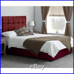 Heavy Duty Adjustable Electric Bed Leather Free Cubed Headboard & 1500 Mattress