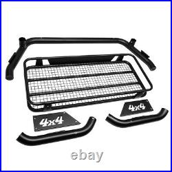 Heavy Duty Off-road Roll Bar/cage+cargo Basket For 17-18 Super Duty Styleside
