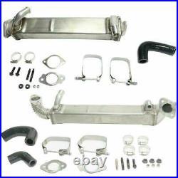 Heavy Duty Vertical & Horizontal Tube EGR Cooler Kit For 2008-10 Ford 6.4L