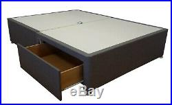 Heavy duty, extra strong divan bed base only. Devan with storage drawers. Fabric