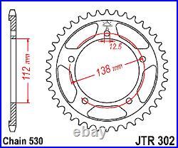 Honda CB1300 DID ZVMX Gold/Gold XRing Super Heavy Duty Chain & JT Sprockets Kit
