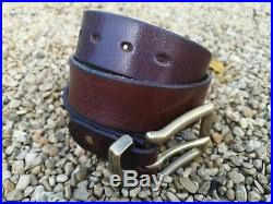 Iron Heart IHB-01 Super Heavy Duty Cowhide Brown Saddle Leather Belt